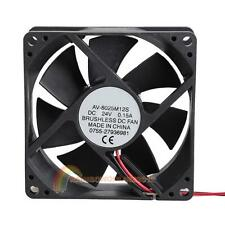 8025S 24V Brushless DC 7 Blade 2 Wires Cooling Fan 80x80x25mm Cooler Blower