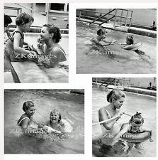 ESTHER WILLIAMS 4 Phot Enfant Handicapé Natation 1960s