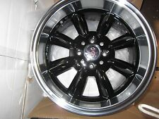 MONZA GLOSS BLACK WHEELS, FIAT 124 SPIDER, COUPE, 131, 15X7.5
