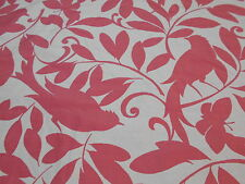 "~BTY~BIRDS ""BIRDSONG"" BUTTERFLIES~WOVEN DOUBLESIDED UPHOLSTERY FABRIC FOR LESS~"