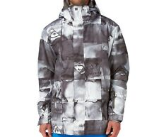 QUIKSILVER Men's NEXT MISSION Print Snow Jacket - BLK - Large - NWT