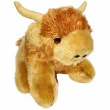 13cm Highland Cow Soft Toy - Plush Cuddly Toy - Suitable for all ages (0+)
