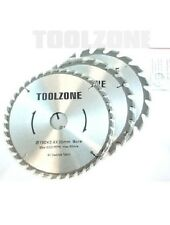 TCT Circular Saw Disc Blades 3Pc 190mm 20, 24 and 40 Teeth 30mm Bore - Tool Acc