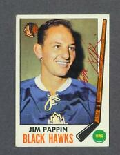 Jim Pappin signed Chicago Blackhawks 1969-70 Topps hockey card