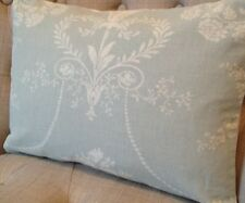 "12x16""  Laura Ashley cushion cover Josette Duck Egg & Austen Off White"