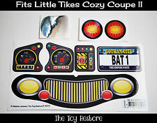 Replacement Decal Stickers fits Little Tikes Cozy Coupe II Batman Inspired
