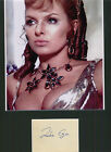 JULIE EGE BEAUTIFUL ACTRESS HAMMER CARRY ON SIGNED AUTOGRAPH DISPLAY UACC