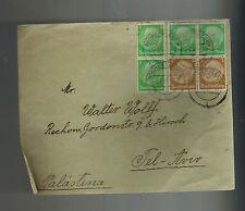 1937 Aschersleben Germany Cover to Tel aviv Palestine