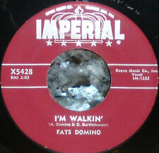 * * FATS DOMINO's 1957 #4 hit I'M WALKIN/I'M IN THE MOOD FOR LOVE: Clean M- 45!