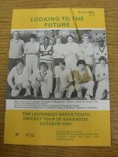 20/10/1981 Cricket: Loundsley Green Youth Cricket Tour Of Barbados - Looking To