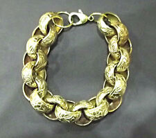 MEN'S 9 INCH Belcher Bracelet in Solid 9ct Gold Fully Hallmarked 178 Grams