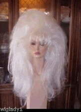 SIN CITY WIGS DRAG QUEEN DANCER EXTRA LONG SOFT SEXY LAYERS BIG HAIR WHITE HOT
