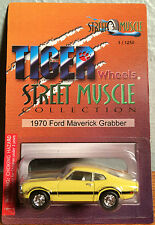 Tiger Wheels 1970 FORD MAVERICK GRABBER Yellow Limited Edition 1/64 Die Cast Car