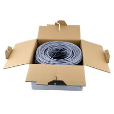 Cat5E Cable UTP 1000ft gray Solid Wire Bulk Ethernet Network Cat5E 1000 RJ45 OY