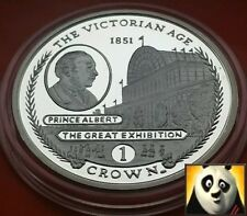 2001 GIBRALTAR ONE 1 CROWN SILVER PROOF COIN PRINCE ALBERT VICTORIAN AGE
