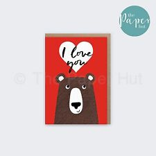Bear Greetings Card | I Love You