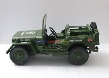 1 x New 1/18 Diecast Vehicle US Army Willys Jeep WWII Military Model Toy Soldier