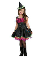 Girls Rockin' out Witch Fancy Dress Halloween Costume (Ages 3-10 Years) BN