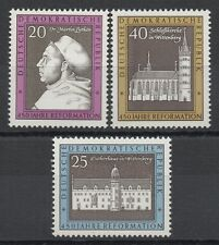 Germany DDR 1967 Sc# 960-962 Mint MNH Martin Luther house church castle stamps