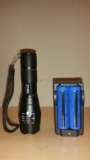 Military Grade Tactical Flashlight LED 2000LM W/ 18650 Rechargeable TC1200 Style