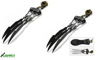 2 Pc Set Assassin Dagger Claws Knife Blades Wolverine Style Cosplay Fantasy Hunt