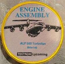 Textron Lycoming Engine Asembly ALF 502 Turbofan BAe146 Patch (Rare) 3.5""