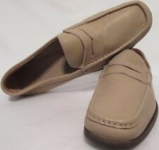 Pronto Uomo Firenze Made Italy Light Khaki Beige Penny Loafers Mens 11 Leather