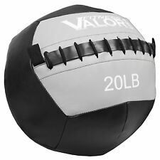 Valor Fitness Wall Ball 20-lb, Black & Gray, WB-20 New