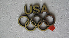 New Gold USA Olympic Emblem Badge