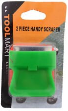 Set of 2 Handy Scrapers For Removing Ice And Dried Paint From Glass Surfaces