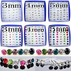 48Pcs Wholesale Lot Charming Clear Rhinestone Crystal Ear Studs Earrings Fashion