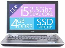 "Dell Latitude E6320 Laptop Win 10 i5 2.5Ghz 4GB RAM 240GB SSD HD HDMI 13"" Webcam"