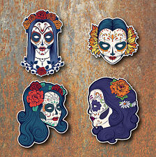 SUGAR SKULL STICKERS Day of the dead Mexican Car Motorbike Guitar Laptop Skulls