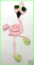 FLAMINGO  WITH SUNGLASSESS PAPER PIECING BY MY TEAR BEARS KIRA  PREMADE