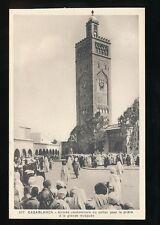 Morocco CASABLANCA Ceremonie du sultan a la Mosque c1920/30s? PPC