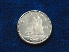 CANADA 1961 TEN 10 cent silver dime CANADIAN coin PL