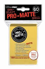 60 Ultra Pro Pro-Matte Small Mini Deck Protector Card Game Sleeves 84268 Yellow