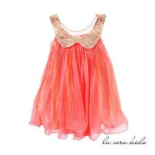 NEW Amelia Dress For Baby And Kids - 4-5 Yrs Peach