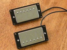 HUMBUCKER PICKUP SET CHROME FOUR CONDUCTOR WIRES ALNICO 5 MAGNETS
