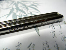 "Round ""silver"" Steel Metal Chopsticks Fully Personalised for a chinese east gift"