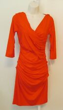 Diane von Furstenberg Bentley blood orange dress DVF M New shift Medium 8 knit