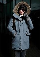 US Seller Men Winter Hooded Coat Thick Warm Parka Windproof Stylish Jacket PK59