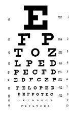 Framed Print - Eye Chart (Picture Poster Art Optician Glasses Sunglasses Test)