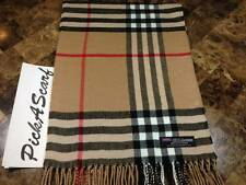 100% CASHMERE Warm Wool Scarf Camel Black SCOTLAND B73 Men Women Infinity Loop