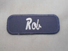 ROB USED EMBROIDERED VINTAGE SEW ON NAME PATCH TAG ASSORTED COLORS AVAILABLE