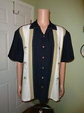 NWOT Island Shores Hawaiian L Shirt Hawaii Panels Palm Trees Charlie Sheen  NEW