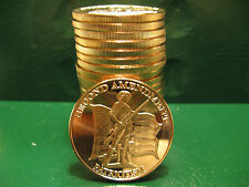 Second Amendment Patriotism 1oz .999 Copper 20 beautiful rounds 1 Roll in Tube