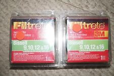 LOT OF 2 NEW 3M FILTRETE BISSELL VACUUM FILTER 9 10 12 & 16 66809B