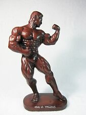 "10.5""H ""Male Body Builder"" Muscle Resin Statue for Decor and Collectible"