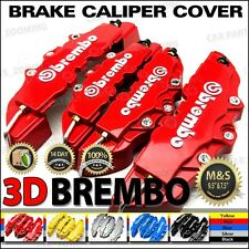 3D Universal Style Brembo Brake Caliper Cover front and rear 4 pcs Red BC03